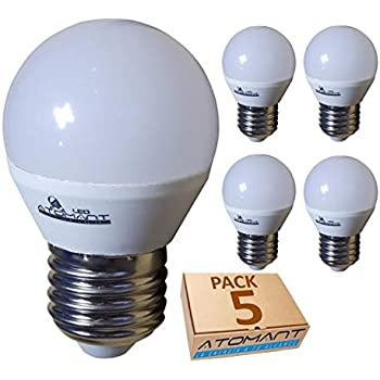 Pack 5x Bombilla LED G45 7w. Color Blanco Neutro (4500K). 650 ...