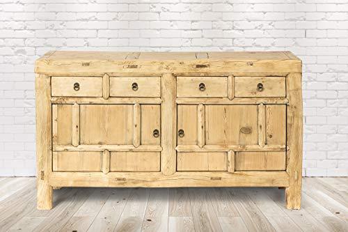 Trade-Line-Partner Cómoda vintage Silves (estante, cajón, mueble de madera, hecha a mano) 156 x 40 x 81 cm