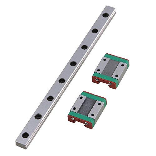 CNBTR L20 cm MGN12 Miniatur-Lager-Stahl-Leitung, linear, Gleitschiene und 2 Schiebeblöcke für 3D-Drucker, CNC-Teile, silber, M6170911045