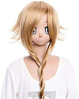 GOOACTION Long Light Brown Braid and Back Part Fluffy Layered Wig for Soul Eater Medusa Anime Halloween Cosplay Party Costume Synthetic Hair Wigs