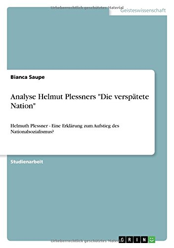 Analyse Helmut Plessners