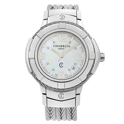 Charriol Women's Celtic Swiss-Quartz Watch with Stainless-Steel Strap, Silver, 18 (Model: CE438S650001)