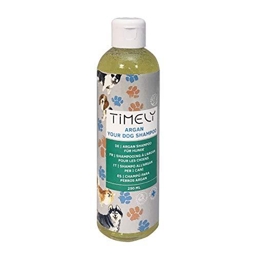 Timely - Champú para perros con argán para pieles secas o ásperas, 250 ml