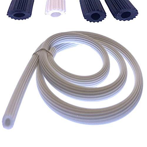 0,80€/m Meterware Keder Gummischnur 5,1mm für Insektenschutz in weiß aus Kunststoff PVC rund für Spannrahmen als Kederband Kedergummi Kederschnur Schnur Ersatzteil (25m-W-5,1)