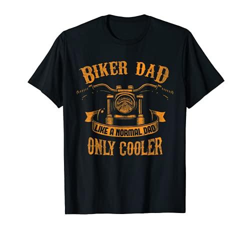 Hombre Regalo único de papá motero para motociclistas naranja Camiseta