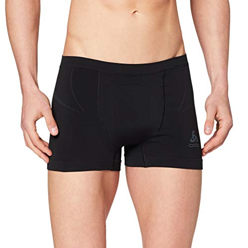 Odlo Herren Boxers Evolution Light Unterhose, Black Graphite Grey, XL