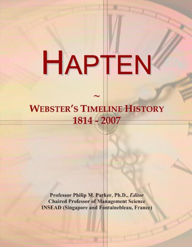 Hapten: Webster's Timeline History, 1814 - 2007
