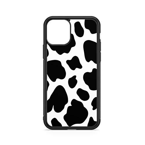 ONECOVER Funda de vaca con manchas negras y fondo blanco par