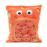 Miss House New Yummy Cheese Puff Stuffed Toy Game Pillow, Cute Plush Cheesy Puffs, Cushion, Delicious Food Dessert Package, Birthday Gift