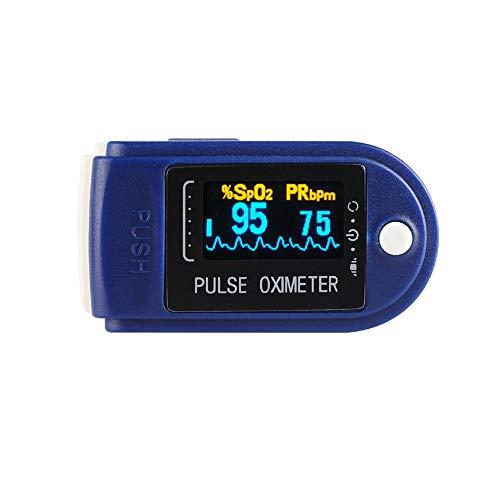 N/E Oxímetro de Dedo Monitor de saturación de oxígeno Monitor de oxígeno en Sangre Pulso de Dedo Voltaje de batería bajo Frecuencia cardíaca