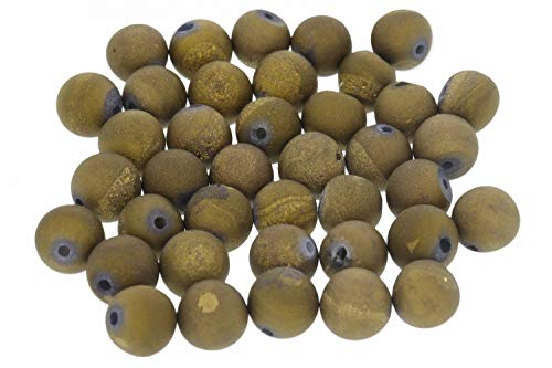 Achat Gold Druse 8S112-8mm Edelstein Kugel 10 Stück