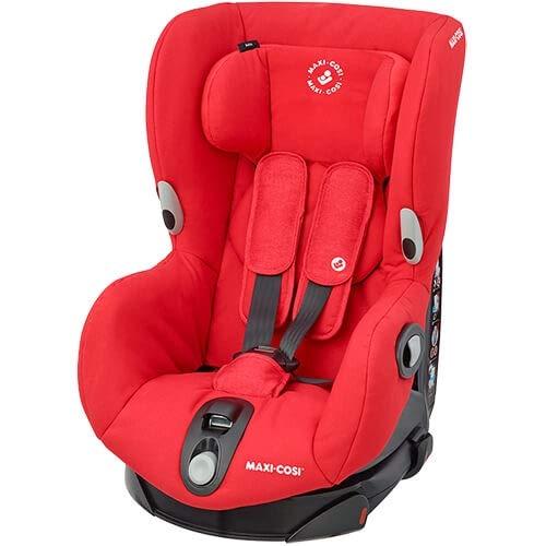 Maxi-Cosi Axiss - Seggiolino auto per bambini girevole a 180°, gruppo 1 (9-18 kg), utilizzabile da circa 9 mesi a circa 4 anni, colore: Rosso