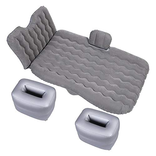 NoNo Autositzüberzug Universal-Auto-Spielraum aufblasbare Matratze Luftmatratze Camping Back Seat Couch, Größe: 90 x 135 cm (schwarz) (Color : Grey)