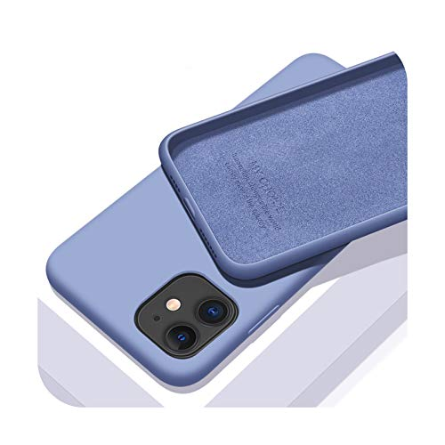 Funda de silicona líquida original para Apple iPhone 11 12 Pro Max mini 7 8 6 6S Plus XR X XS MAX 5 5S SE a prueba de golpes - azul claro para iPhone XR