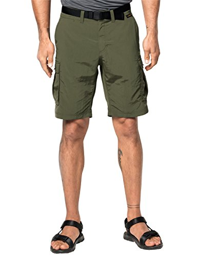 """Jack Wolfskin Men's Canyon Cargo Shorts, Woodland Green, 52 (US 36"""")"""