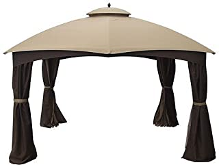 Garden Winds LCM1018B-UGF-RS AR Dome Gazebo Rip Lock 500 Replacement Canopy, Beige