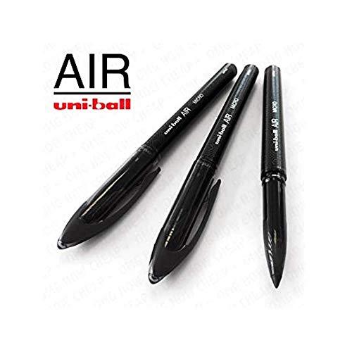 Uni-Ball Aria Micro - 0.5mm Fine Penna a Sfera - 3 Confezioni - Nero - UBA-188-M