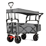 Best Kid Wagons - EXTEC Push and Pull Folding Stroller Wagon Collapsible Review