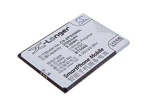 TechGicoo Batería de 2500 mAh / 9,50 Wh, compatible con ZOPO S5580, Speed 7