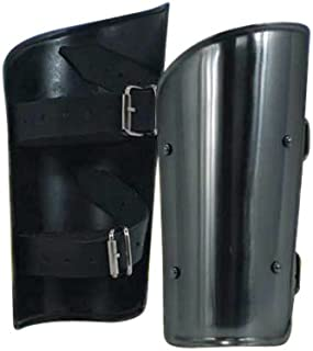 Armor Venue Ready For Battle Steel Arm Bracers One Size Fit All - Silver Armour