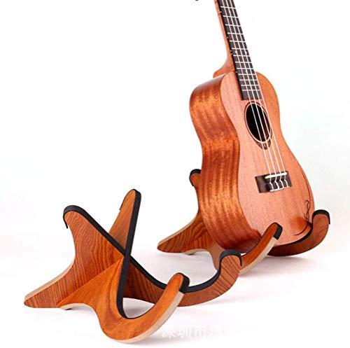 Yeqoo(R) Supporto in legno per chitarra acustica classica, ukulele, kalimba Medium Size for Ukulele
