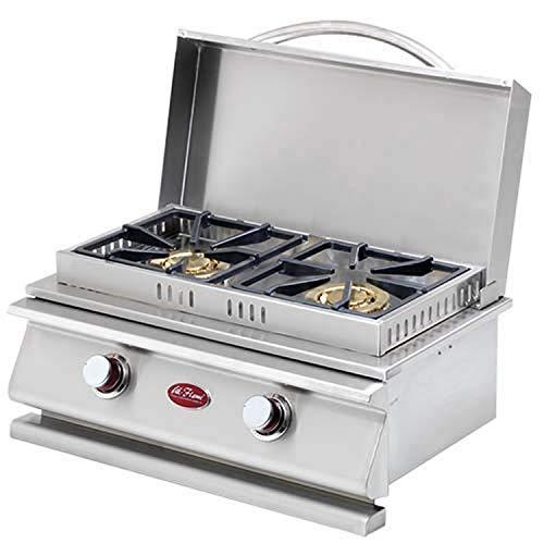 413dndNj7VL - Cal Flame 089245002406 Deluxe Doppelbrenner, Edelstahl