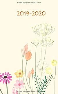 2019 – 2020: Agenda Scolaire 2019 - 2020 / Une page par jour / Planificateur Académique / Belles fleurs (French Edition)