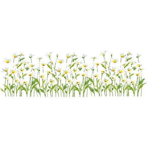 whmyz Daisy Baseboard Aufkleber DIY Blumen Wandtattoos für Kinderzimmer Baby Schlafzimmer Home Decoration Zubehör