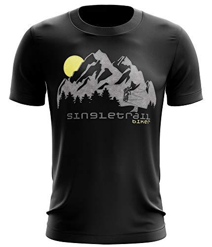 Stylotex Fitness T-Shirt Herren Sport Shirt Single Trail Gym Tshirts für Performance beim Training | Männer Kurzarm | Funktionelle Sport Bekleidung, Farbe:schwarz, Größe:XXL