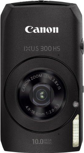Canon IXUS 300 HS Digitalkamera (10 MPCMOS, 3, 8-fach opt. Zoom, 7,6cm (3 Zoll) Display) schwarz