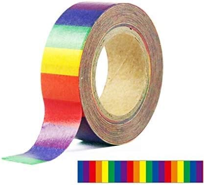 Rainbow Vertical Stripe Washi Tape\u201424 inch Sample