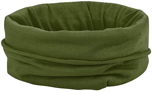 2PCS Bandana Stirnband, Buff Krawatte Balaclava m∂sk Armband 10-In-1 Elastische Schal Sport Magie Headwrap für Yoga Radfahren Wandern Laufen 2pcs,Army Green