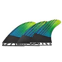 サーフボードフィン アウトドアスポーツ サーフボードテールラダーグラデーションカラーサーフボードフィンサーフボードガラス繊維のテールフィンハニカムフィン (Color : Orange, Size : G5)