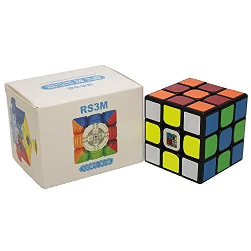 Mofang Jiaoshi MF3 RS3 M 2020 Version Magic Cube 3x3x3 Magnetic, Noir