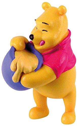 Bullyland 12340 - Spielfigur, Walt Disney Winnie Puuh mit Honigtopf, ca. 6,5 cm groß, liebevoll handbemalte Figur, PVC-frei, tolles Geschenk für Jungen und Mädchen zum fantasievollen Spielen