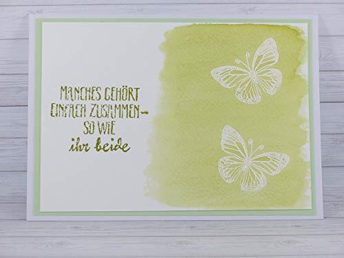 Karte Handmade, Hochzeitskarte, Hochzeit, Hochzeitstag