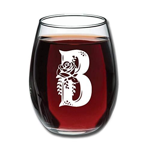 LIFOOST Weinglaswaren - Letters B. Upgrade Gravieren Saftbecher Good Handheld Neuheit Dekoration White 350ml