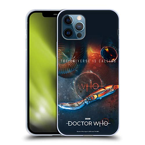 Head Case Designs Oficial Doctor Who Destornillador sónico Temporada 11 Key Art Carcasa de Gel de Silicona Compatible con Apple iPhone 12 / iPhone 12 Pro