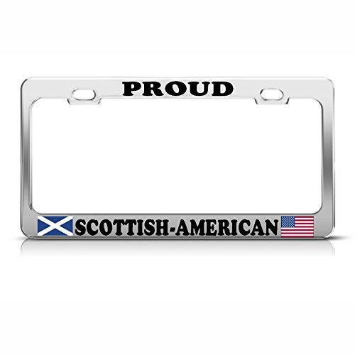 Schotse Amerikaanse vlaggen Heavy Duty Metal License Plaat Frame TAG Border Perfect voor Mannen Vrouwen Auto garadge Decor