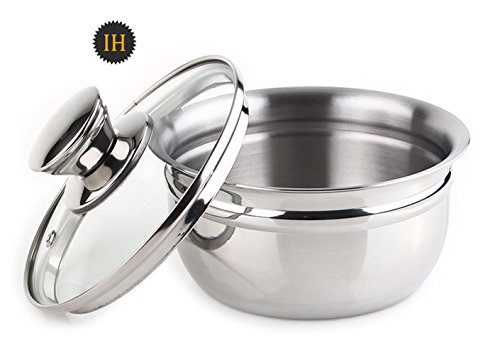 The Rich Pos Sd Stainless Steel Ttukbaegi Pot 14cm Induction All heat sources Egg steamed Pot Rice Ramen Miso stew Cooking