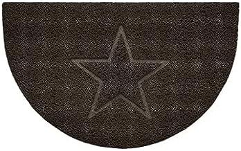 Nicoman Embossed Halfmoon Half Circle Door Mat Dirt-Trapper Jet-Washable Doormat 70x44cm (Brown, Star Shape) - Use Indoor ...