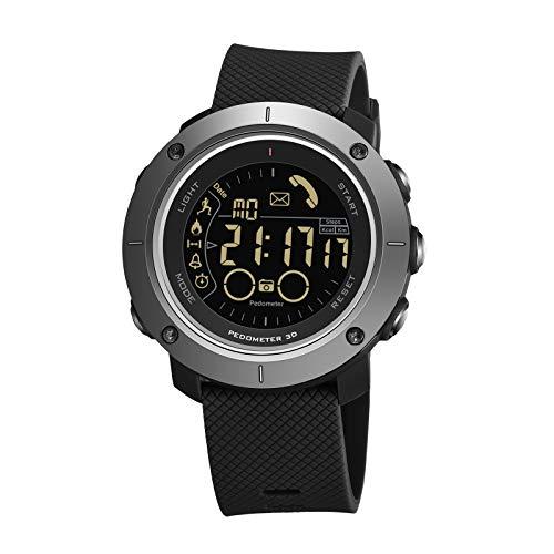 Reloj deportivo, relojes deportivos a prueba de agua IP68, reloj deportivo inteligente, reloj digital para hombres para teléfonos Android iOS, con funciones de llamada de función de conexión bluetoo