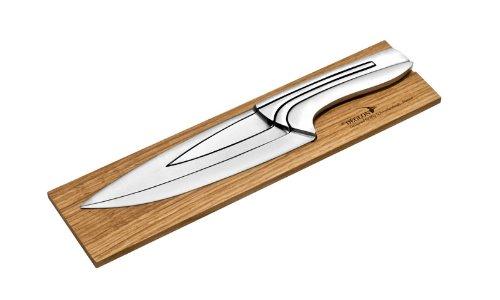 Deglon 8280000-V - Ceppo di Castagno di Borgogna con 3 coltelli in Acciaio Inox