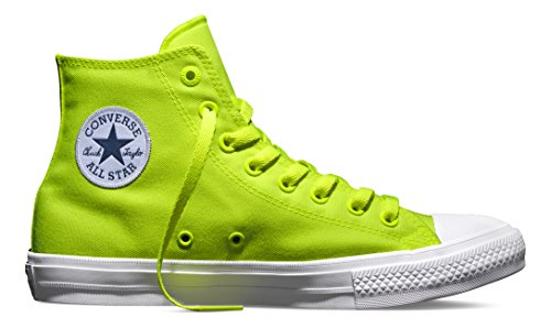 Converse Unisex-Erwachsene Chuck Taylor All Star II Neon Basketballschuhe, Grün (Volt Green/White), 42 EU