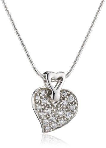 TOM TAILOR Damen-Halskette 925 Sterlingsilber Zirkonia weiß 45 cm TT42014Z45