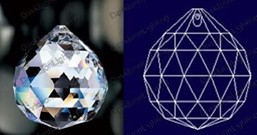 entrega de rayos Asfour Clear Crystal Hanging Faceted Ball Ball Ball Prism, 20mm, 12 Piece by Asfour  cómodo