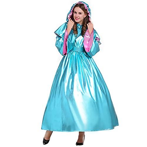 Fortunehouse Disfraz de hada de Cenicienta para adultos, disfraz de cuento de hadas para Halloween