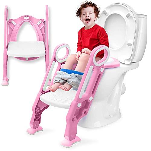 補助便座 子供 トイレトレーニング おまる 折りたたみ 幼児用 ベビー用便座 キッズ用便座 子どもトイレ 柔らかいクッション 挟まれ防止 滑り止め 踏み台 尿がしぶき防止 取外し可能 ステップ式 ベビー 踏み台