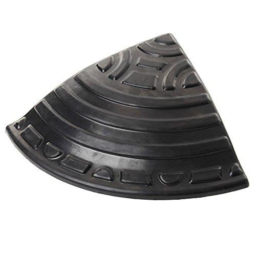 アイリスオーヤマ 段差 スロープ プレート コーナー用 段差 10cm GDP-95C ゴム製 ブラック