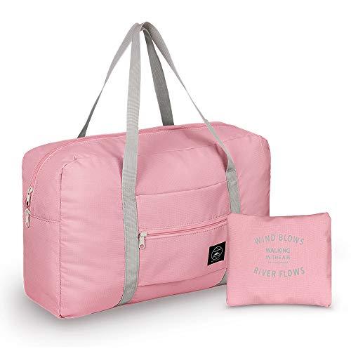 Leichter Faltbare Reisetasche, Simboom wasserdichte Reise Handtasche Faltbare Reise-Gepäck Tasche Duffel Taschen für Reisen Sport Gym Shopping Gepäck, Pink